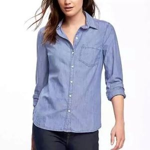Old navy the classic shirt chambray button down